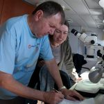 Sample analyses in the research vessel BIOS DVA.