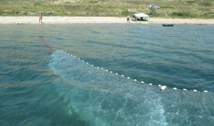Beach seine for sampling of juvenile fish assemblages