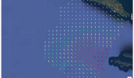 Surface currents measurements